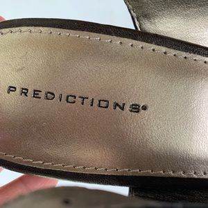 Predictions Shoes - Predictions peep toe sling back sandals